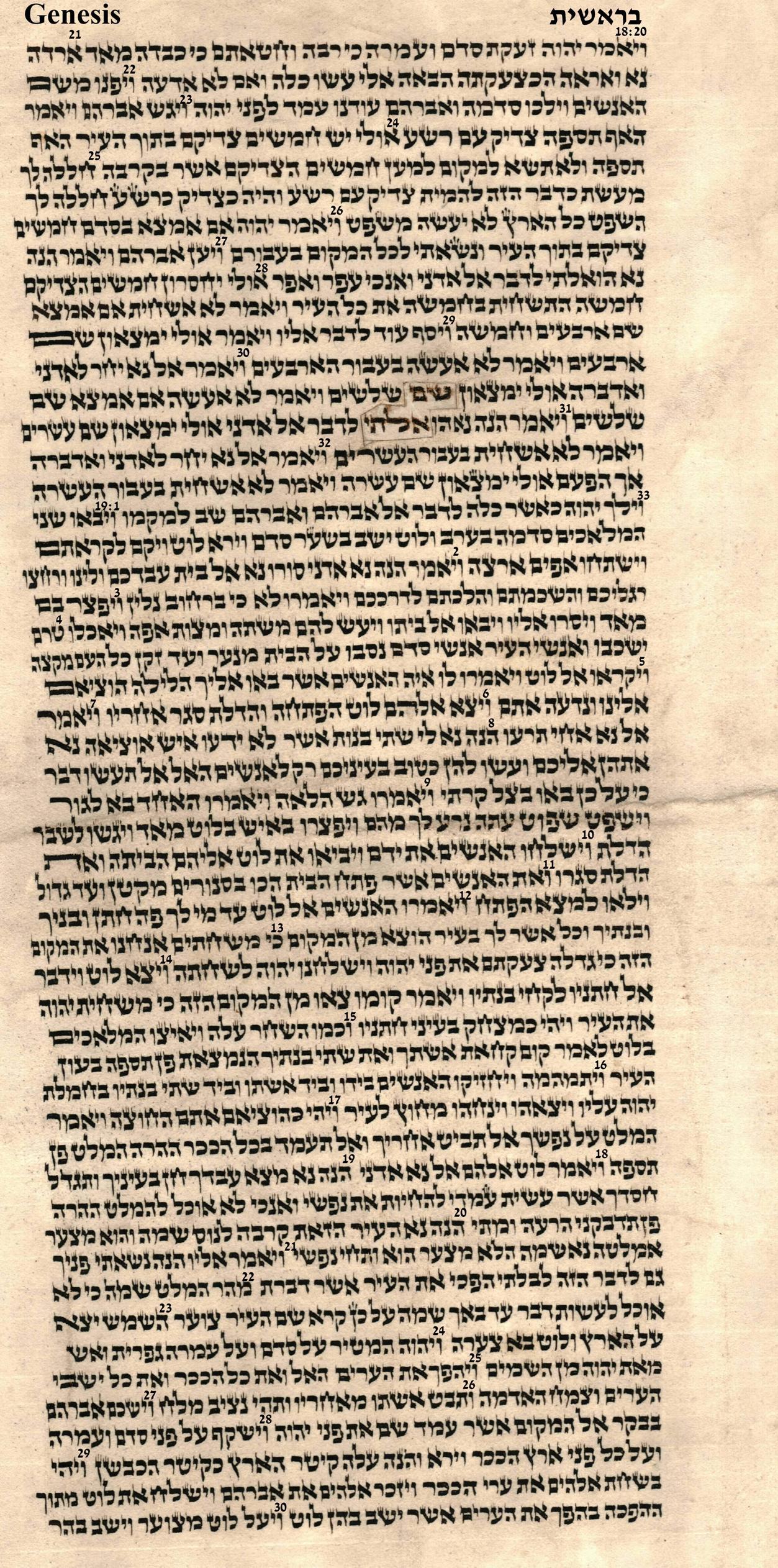 Genesis 18.20 - 19.30