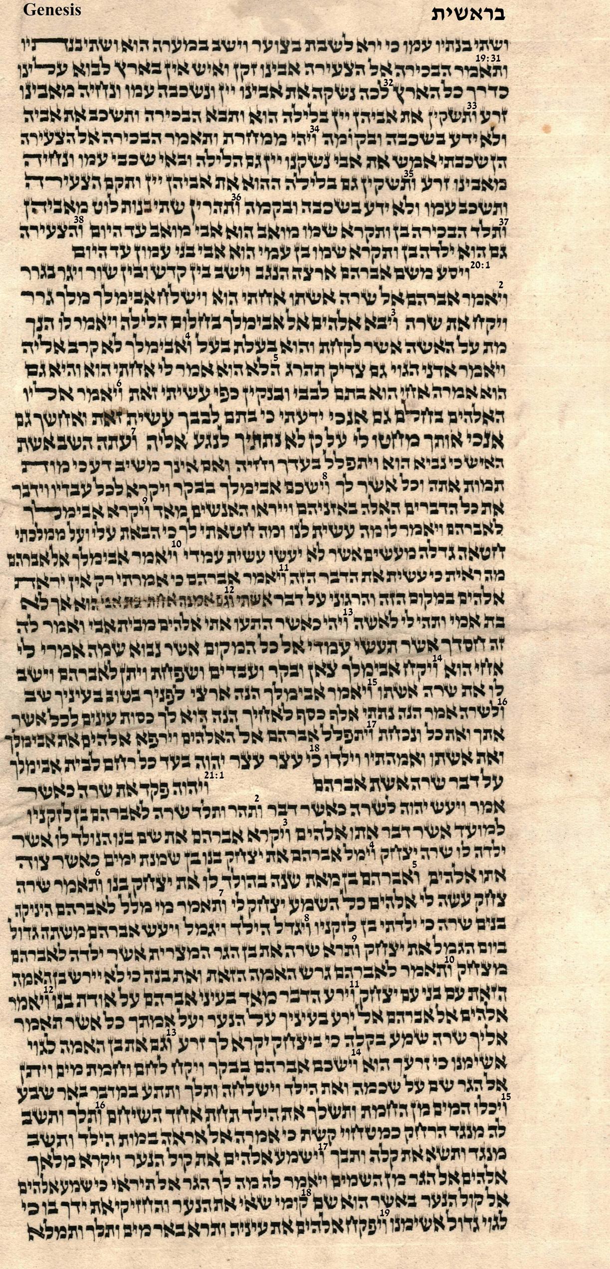 Genesis 19.31 - 21.19