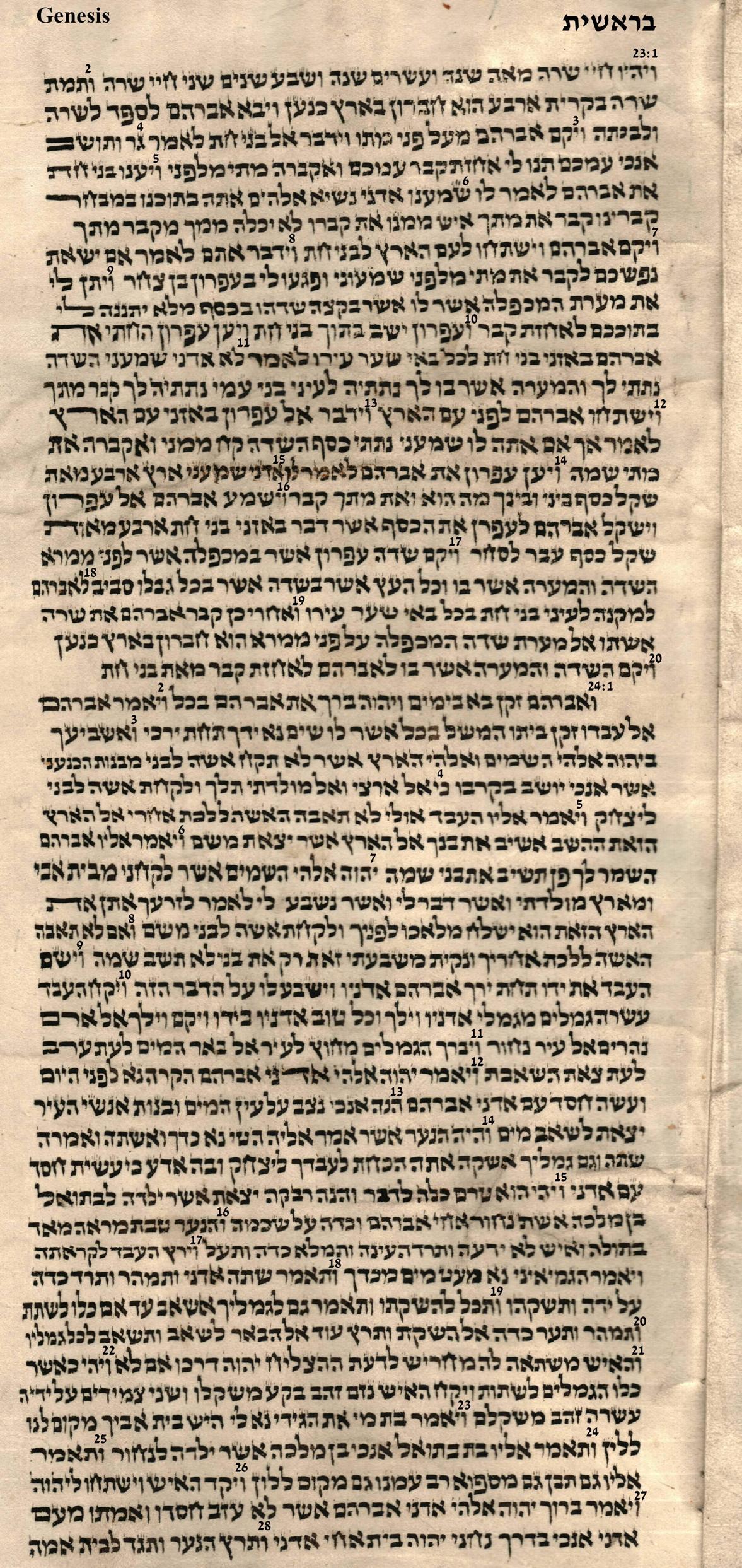 Genesis 23.1 - 24.28