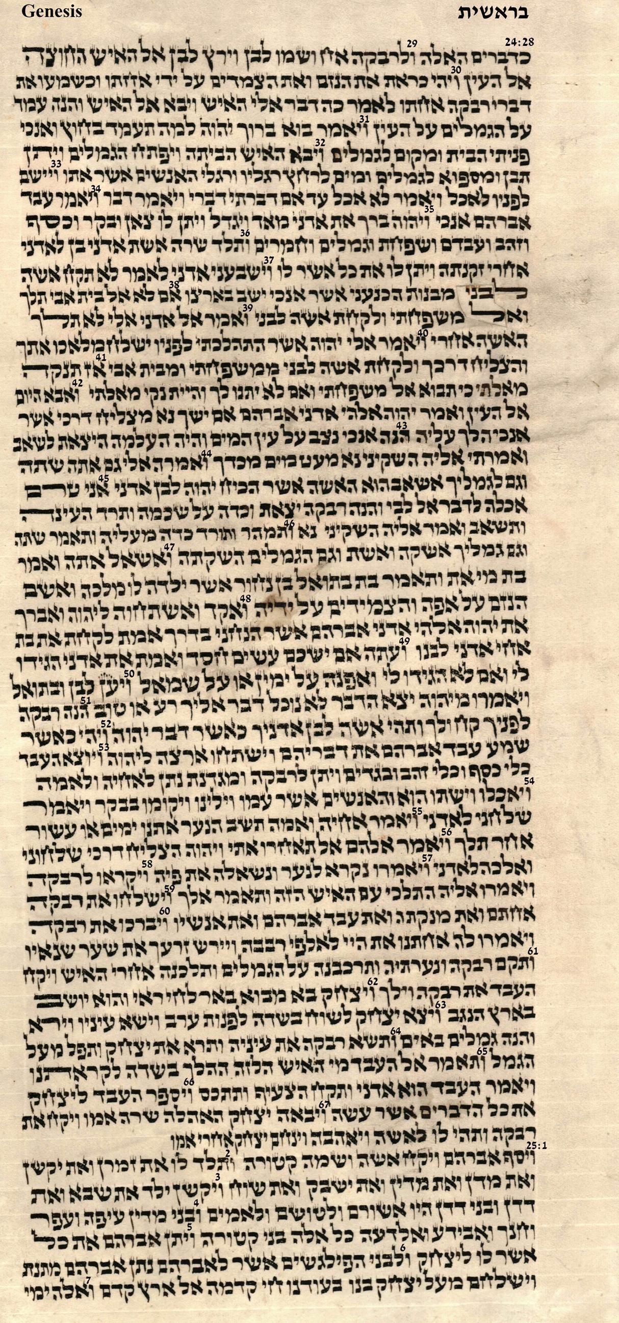 Genesis 24.29 - 25.7