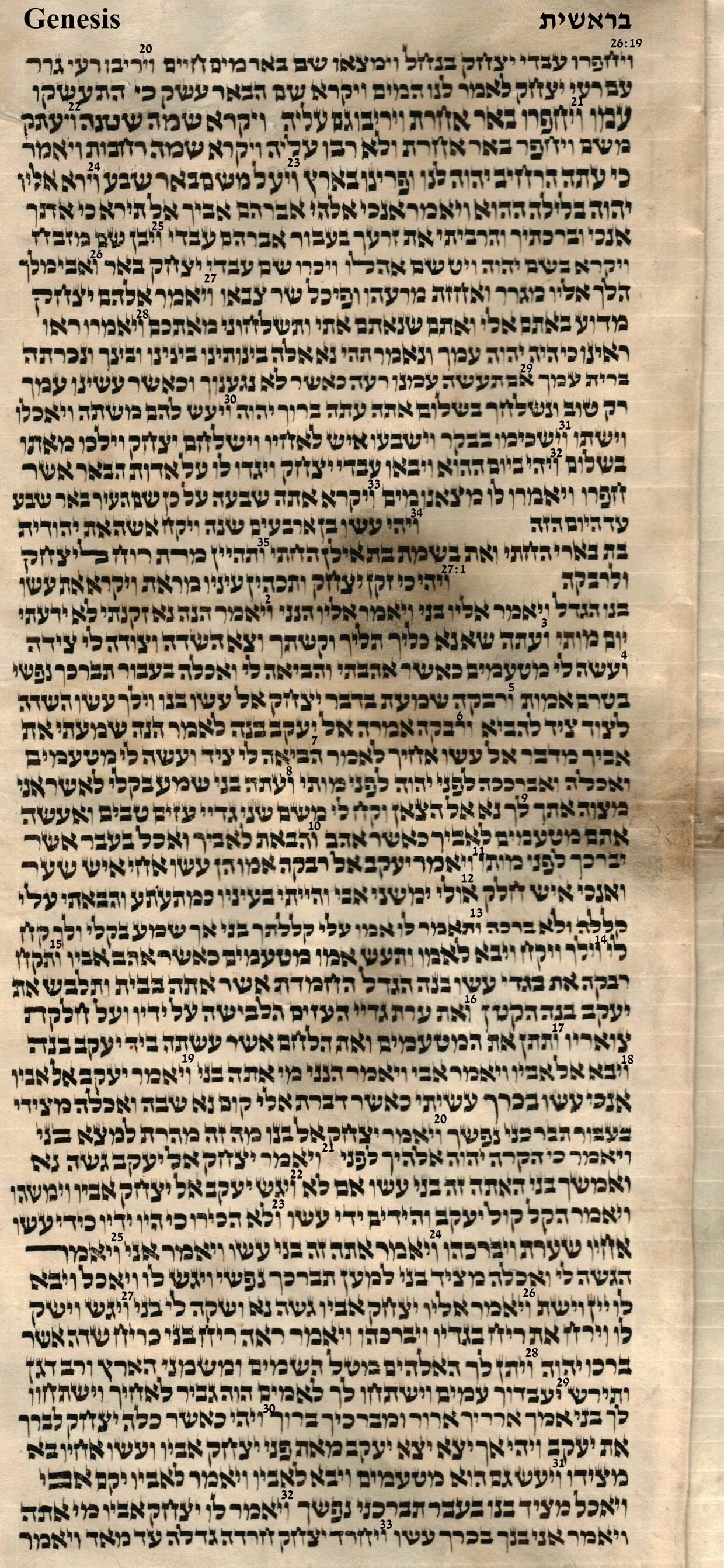 Genesis 26.19 - 27.33