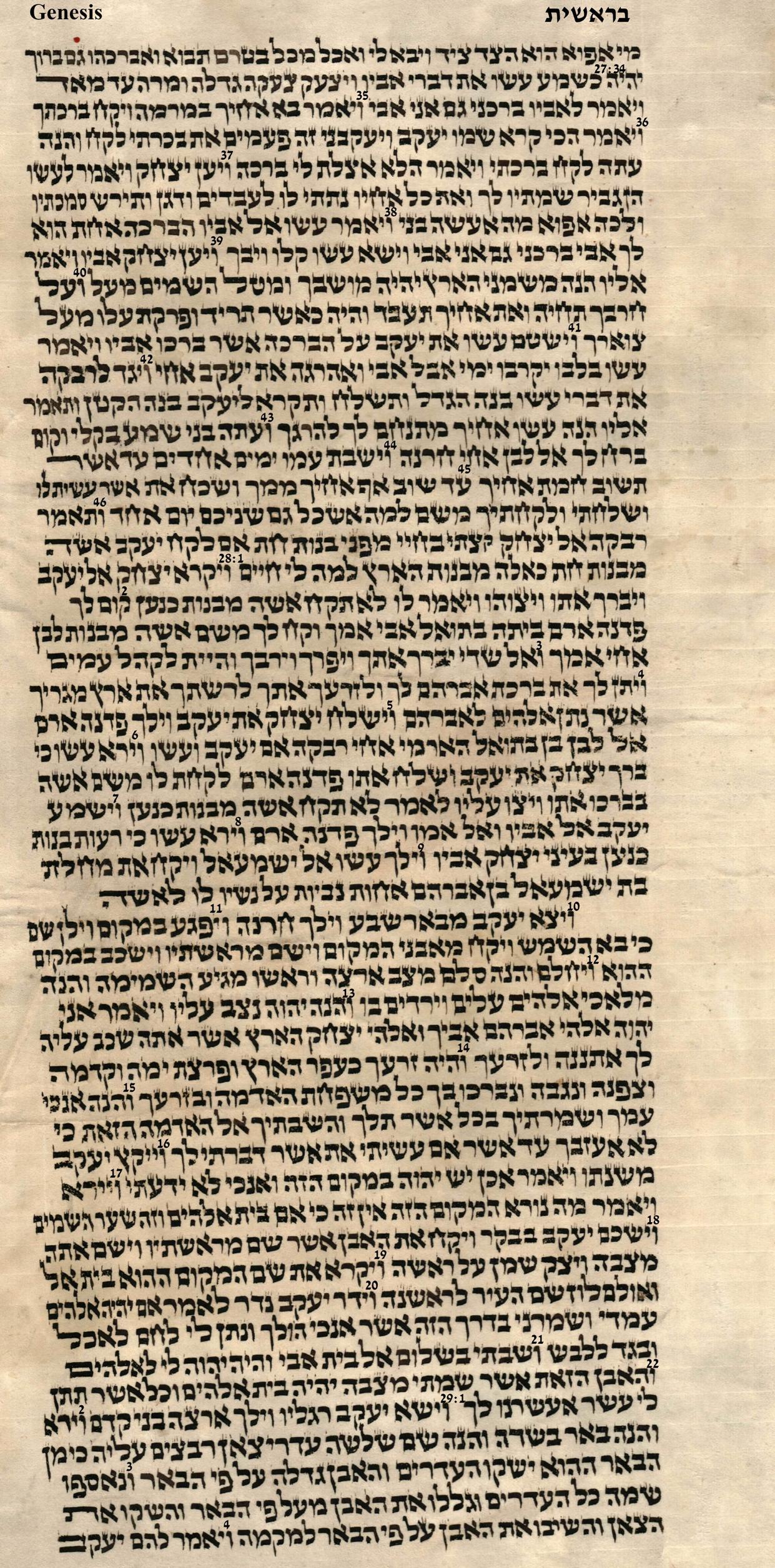 Genesis 27.34 - 29.4