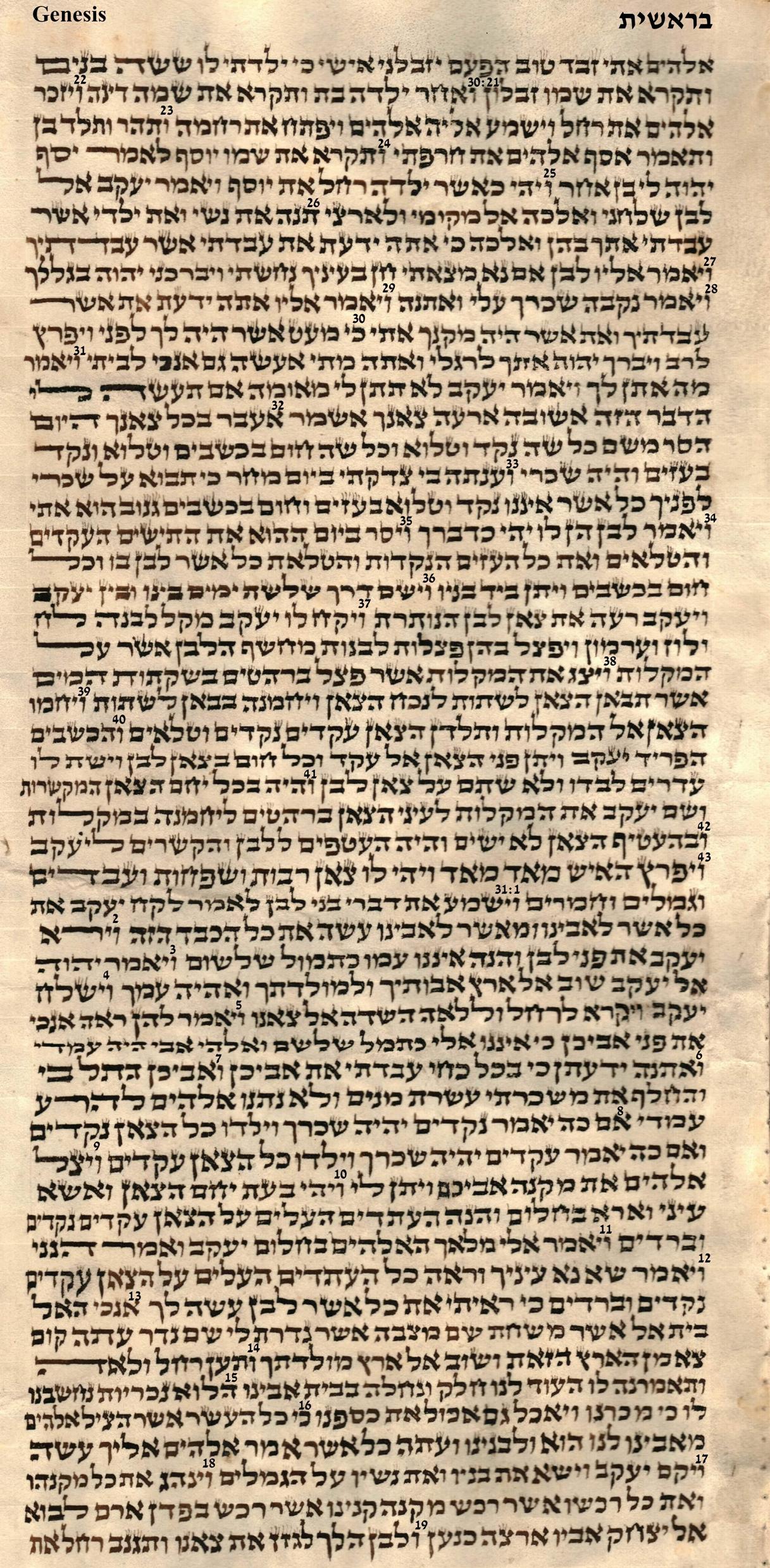 Genesis 30.21 - 31.19