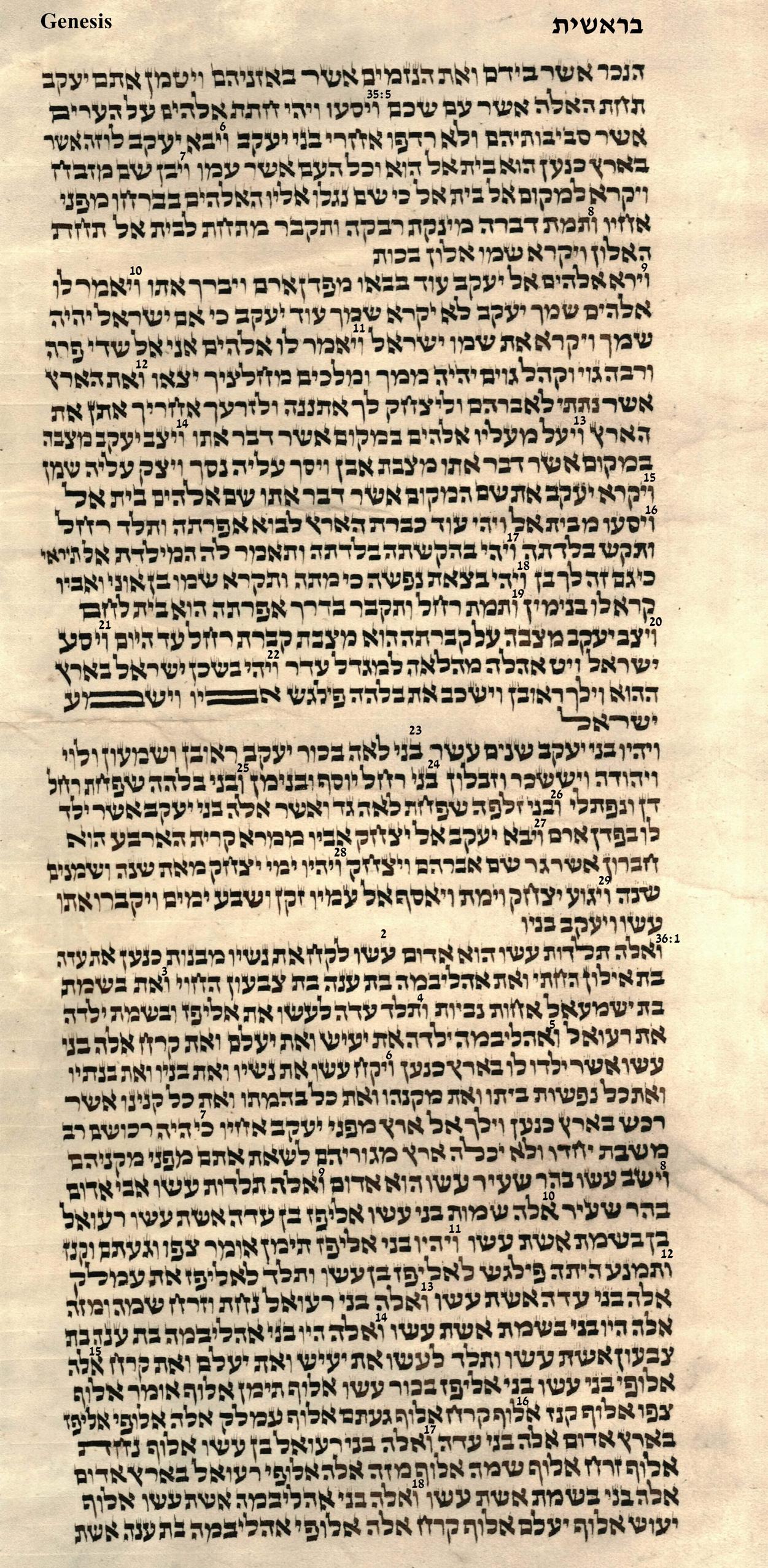 Genesis 35.5 - 36.18