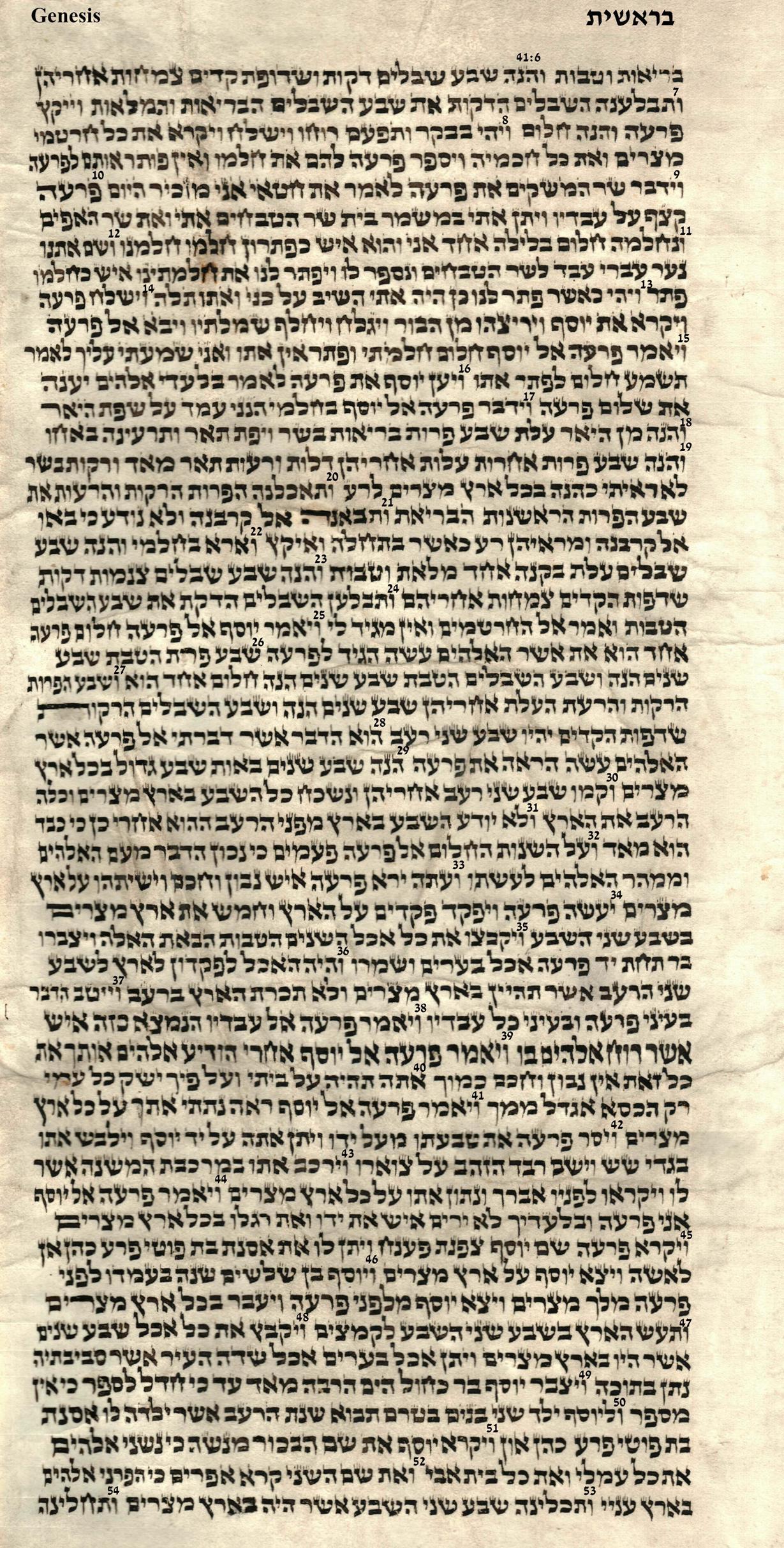 Genesis 41.6 - 41.54