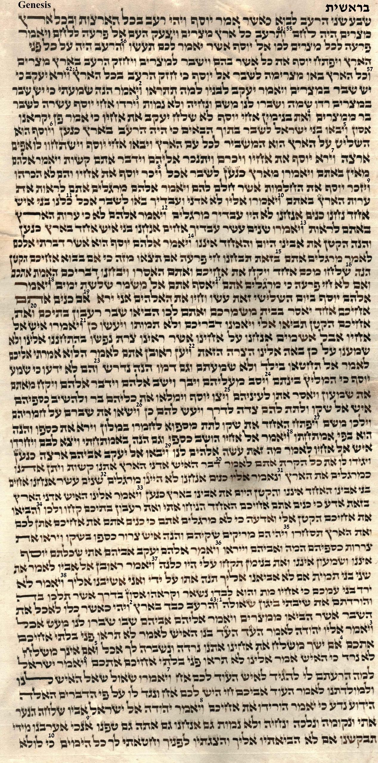Genesis 41.55 - 43.10