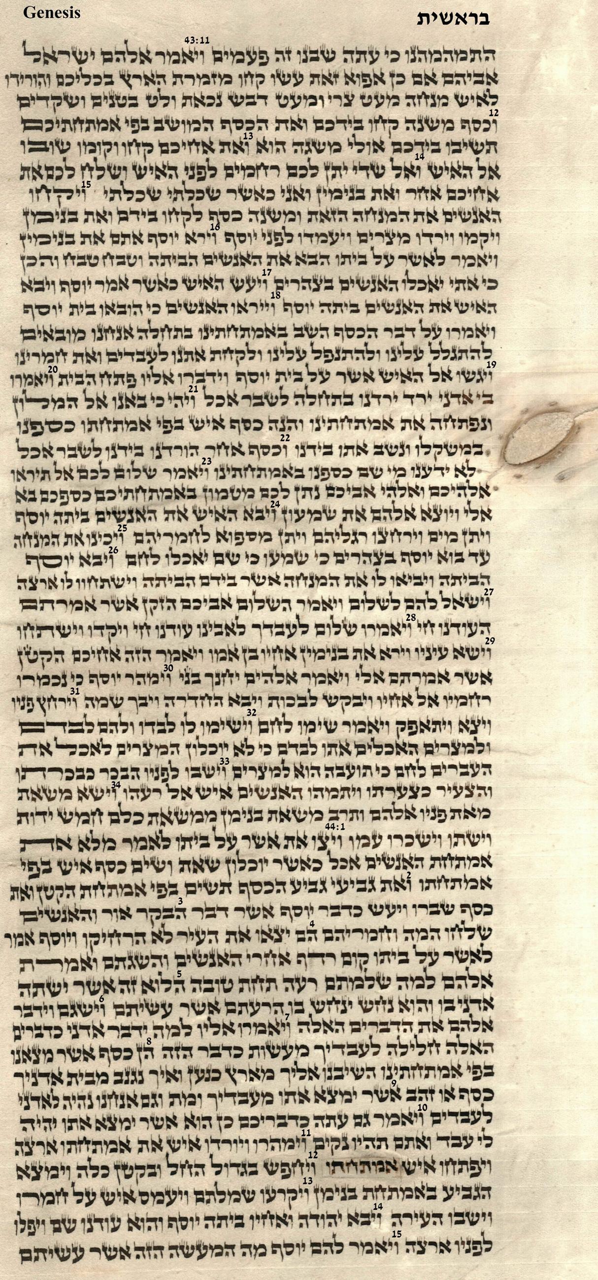 Genesis 43.11 - 44.15