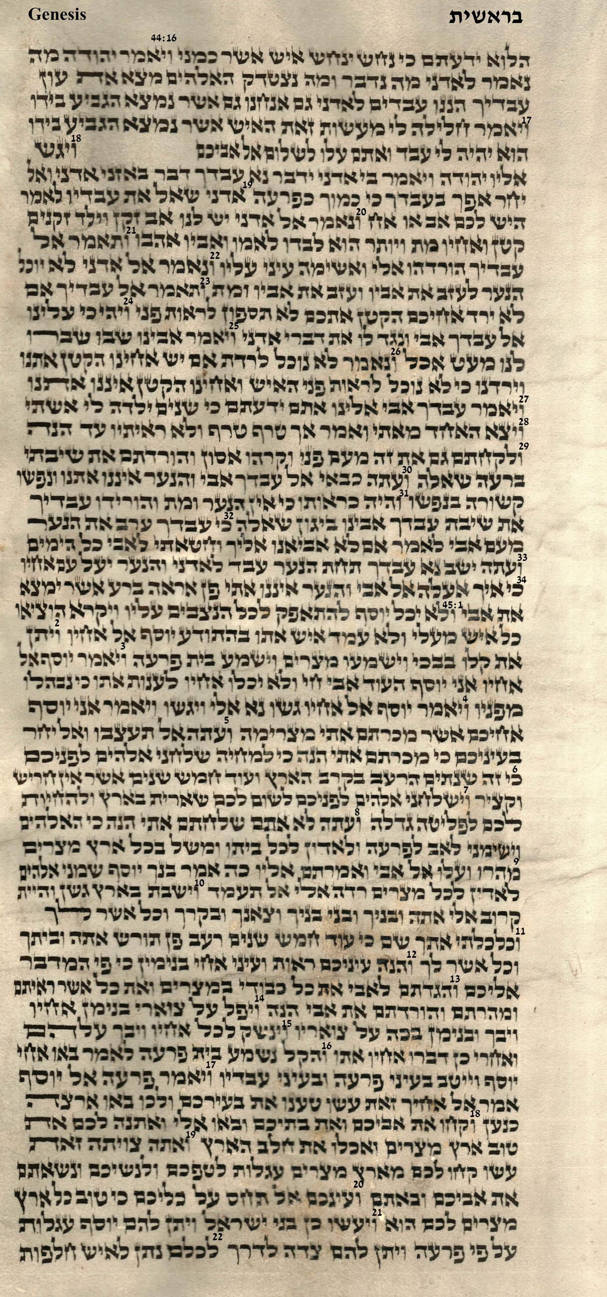 Genesis 44.16 - 45.22