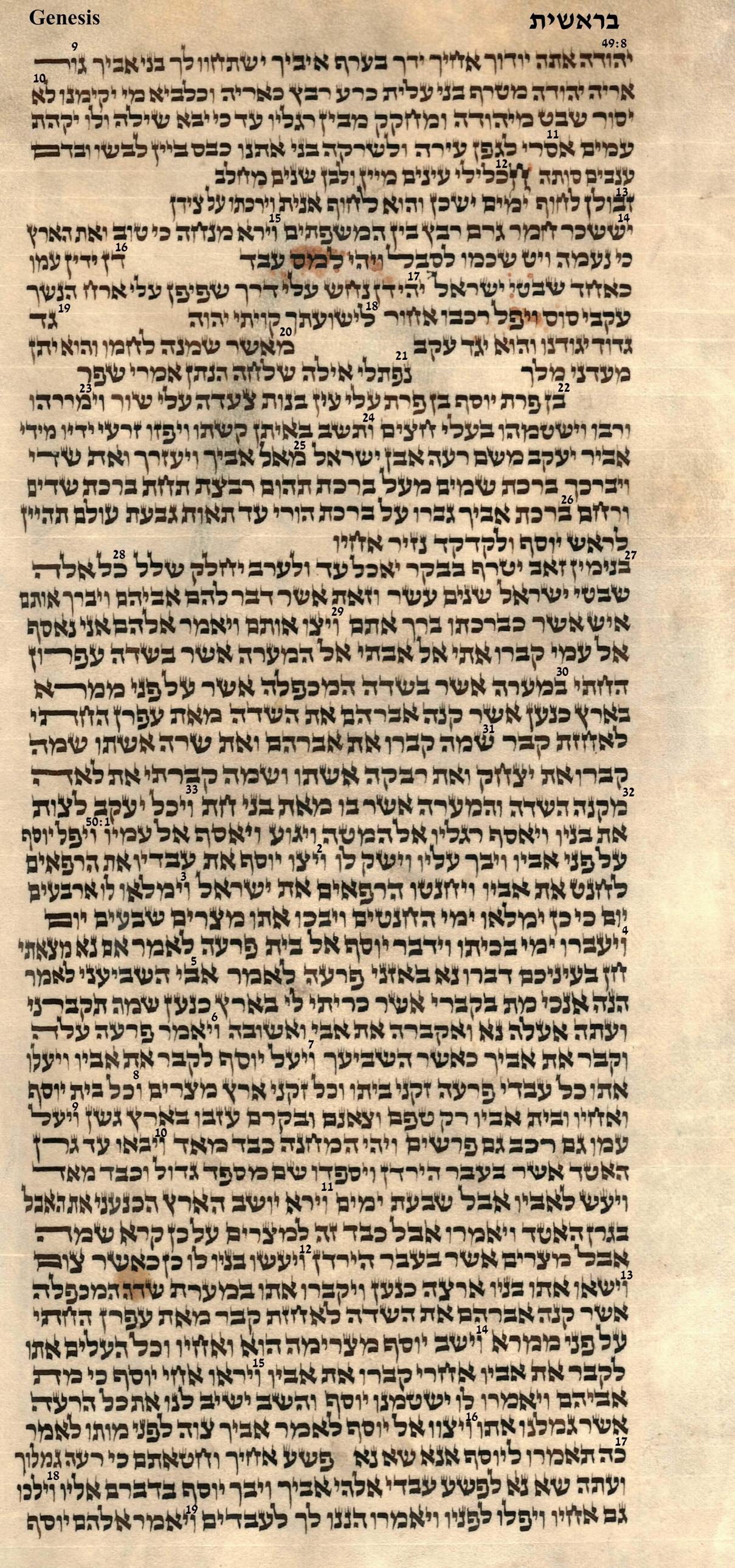 Genesis 49.8 - 50.19