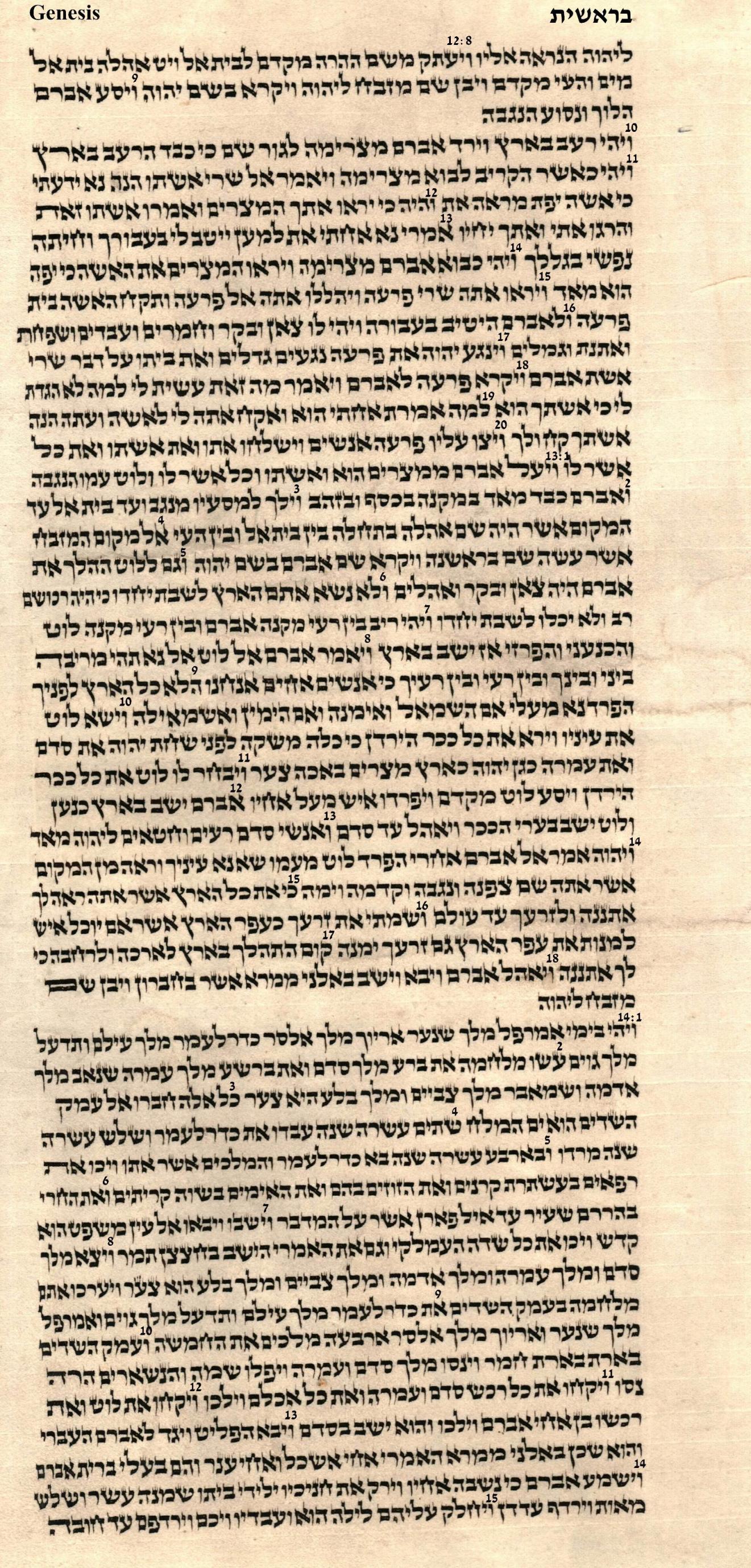 Genesis 12.8 - 14.15