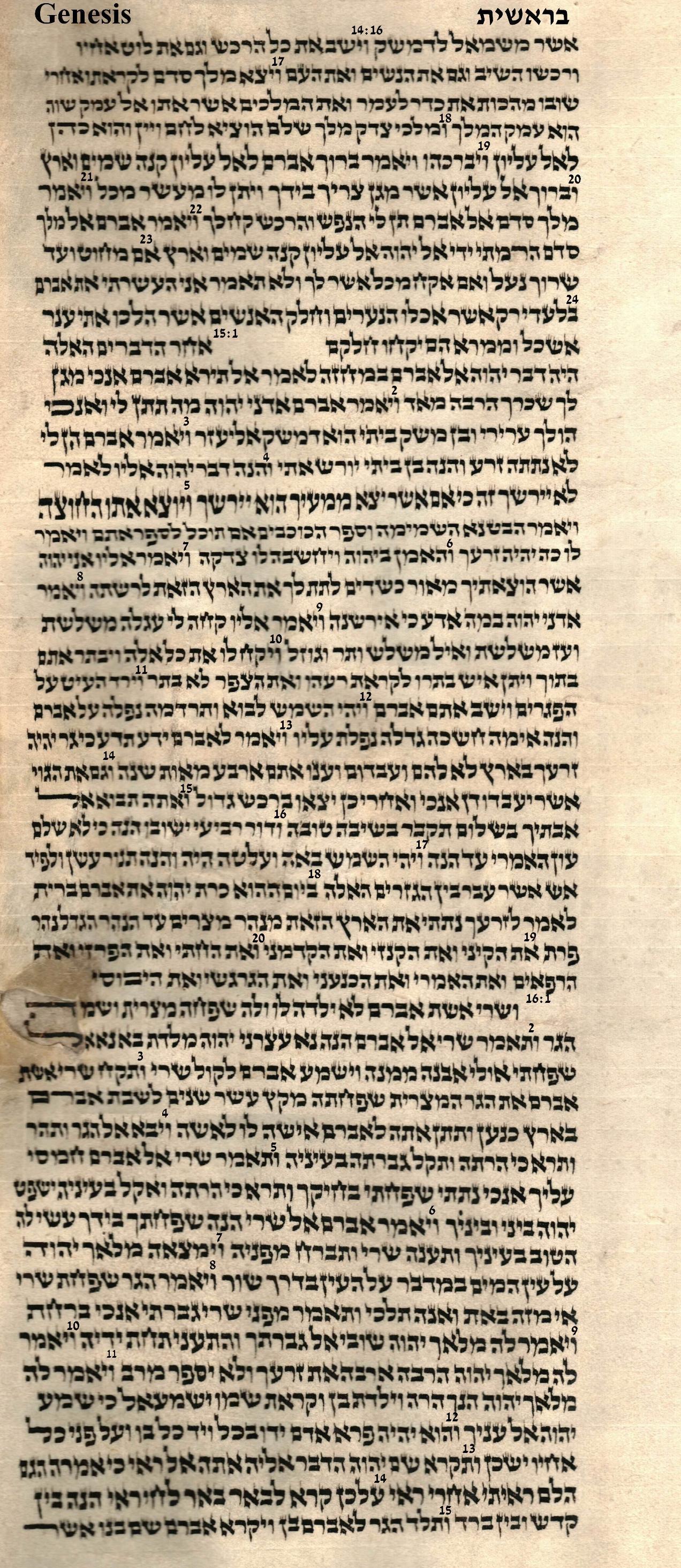 Genesis 14.16 - 16.15