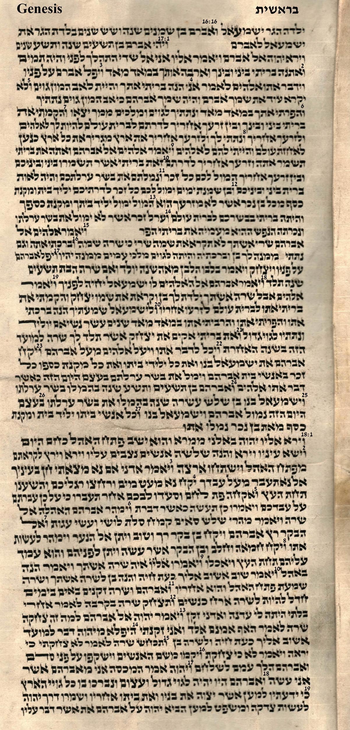 Genesis 16.16 - 18.19