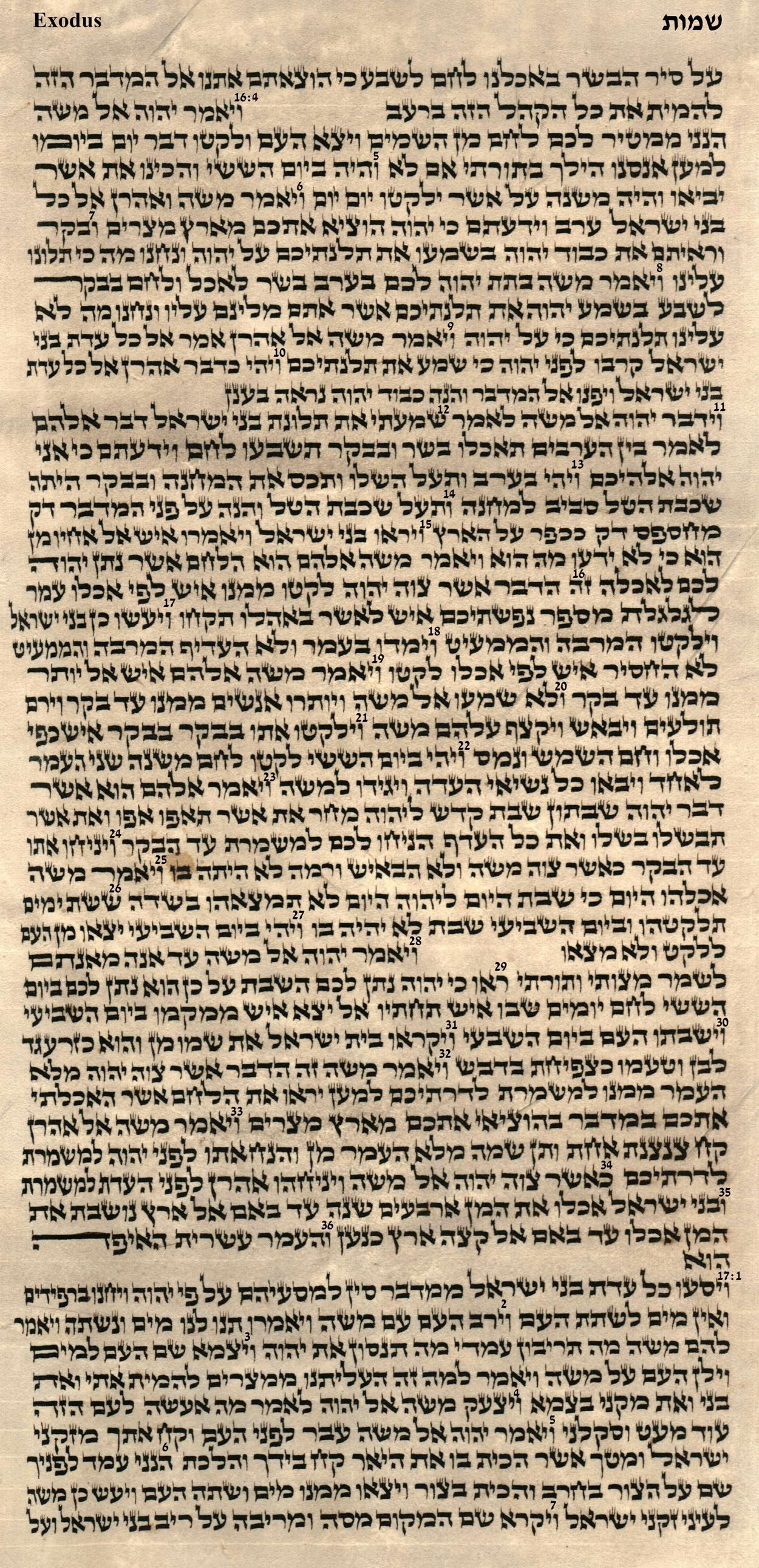 Exodus 16.4 - 17.7