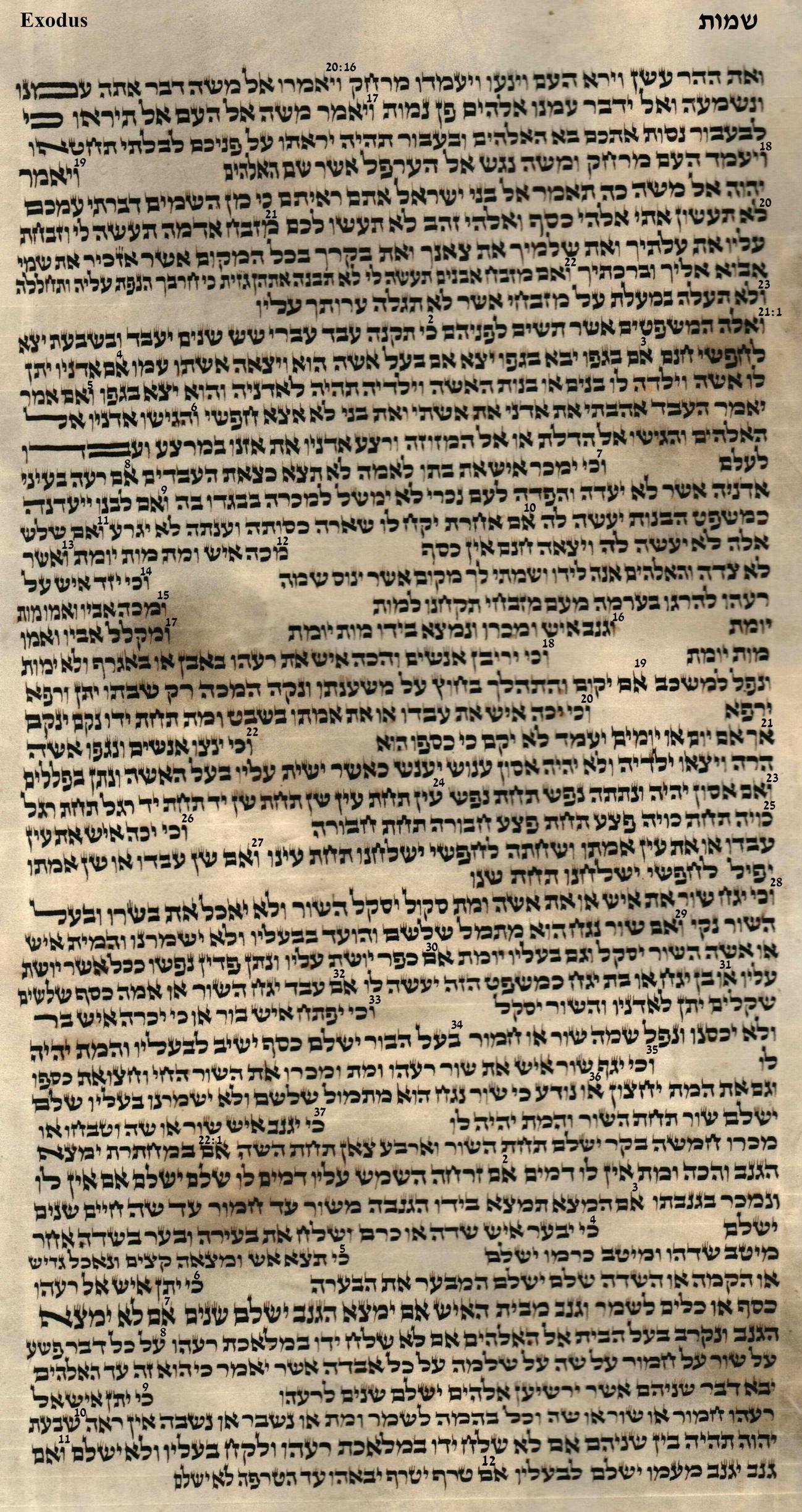 Exodus 20.16 - 22.12