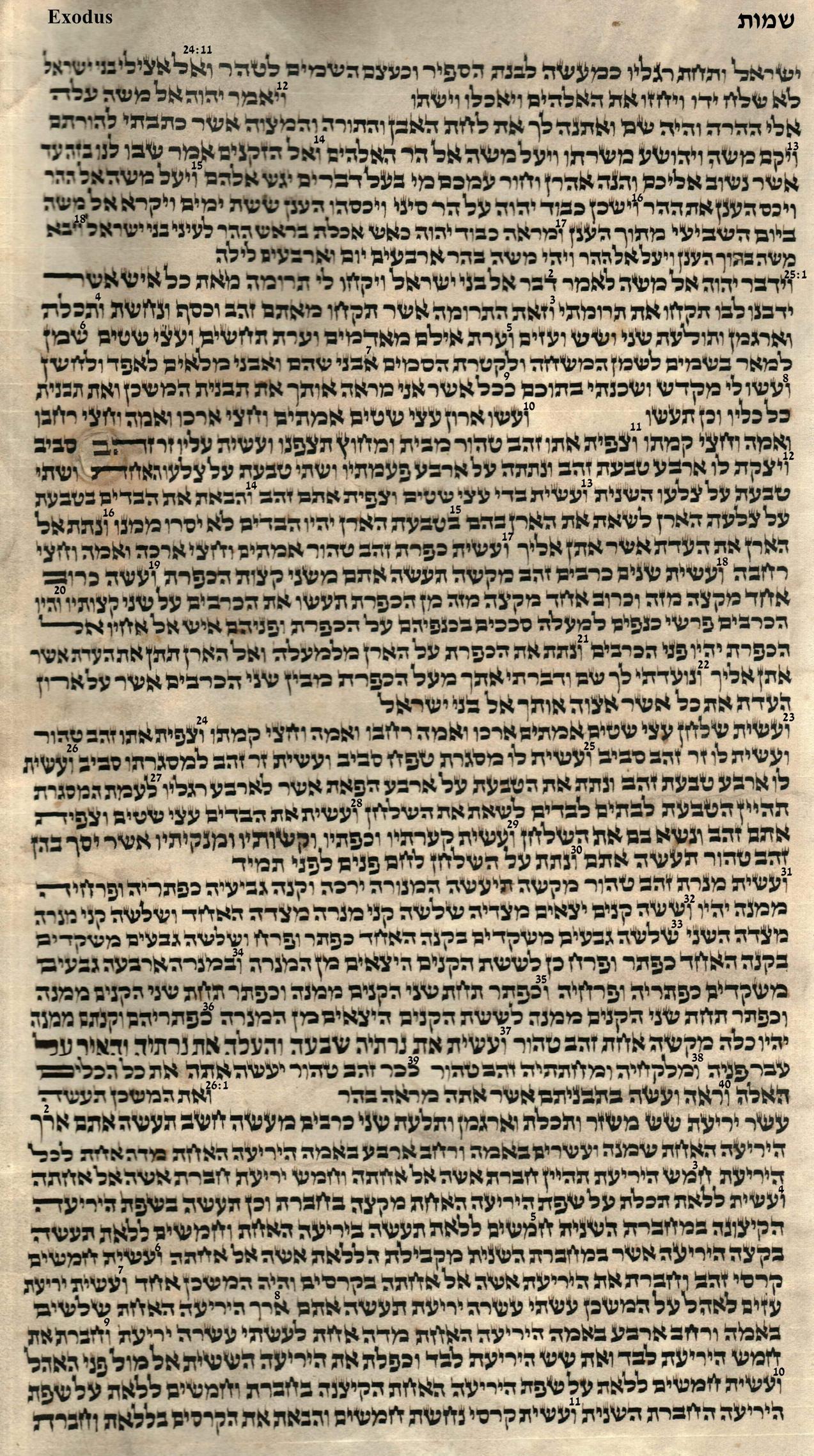 Exodus 24.11 -26.11