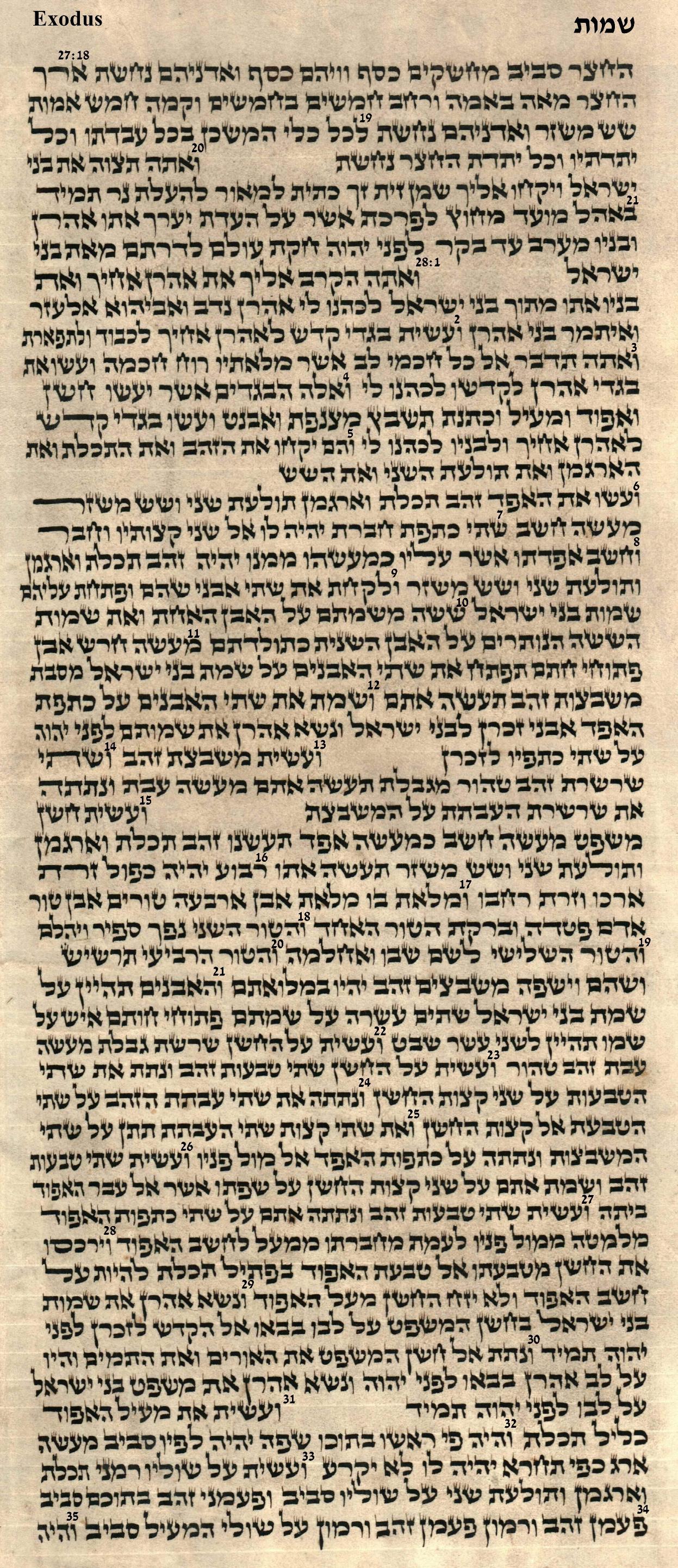 Exodus 27.18 - 28.35