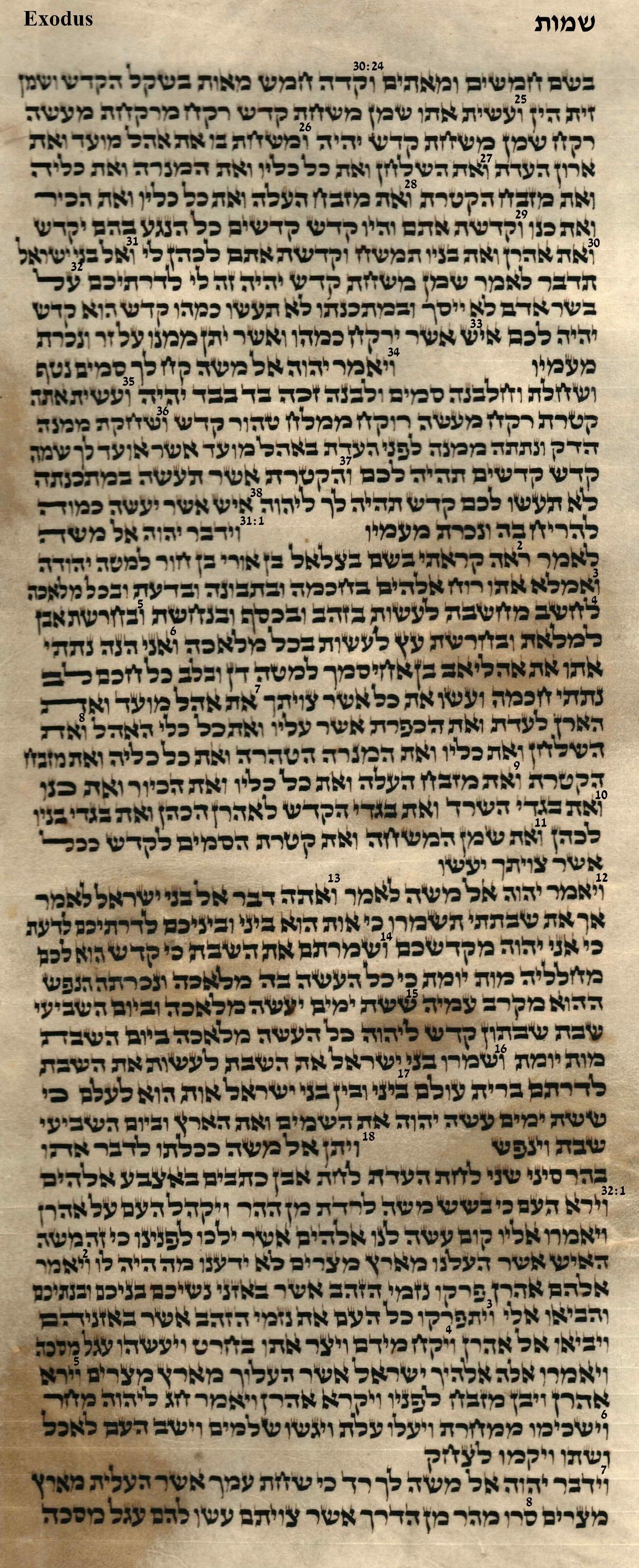 Exodus 30.24 - 32.8