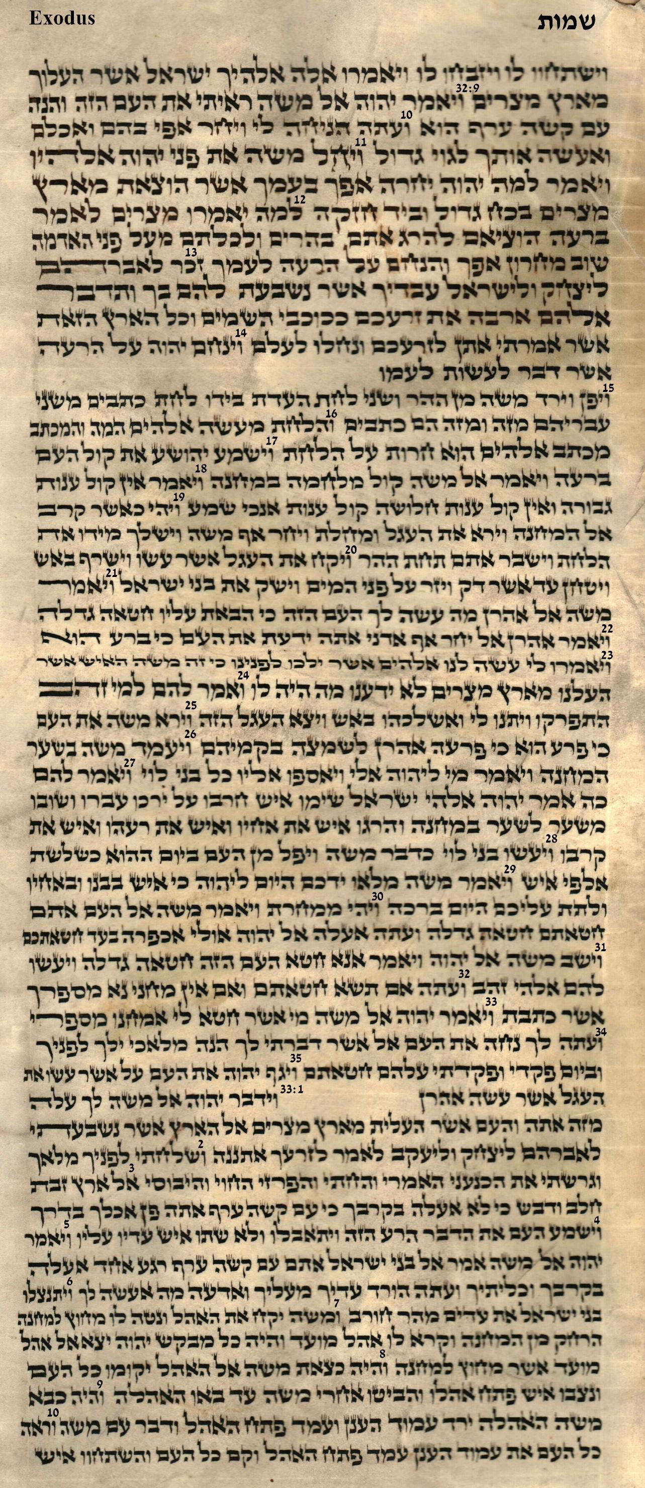 Exodus 32.9 - 33.10