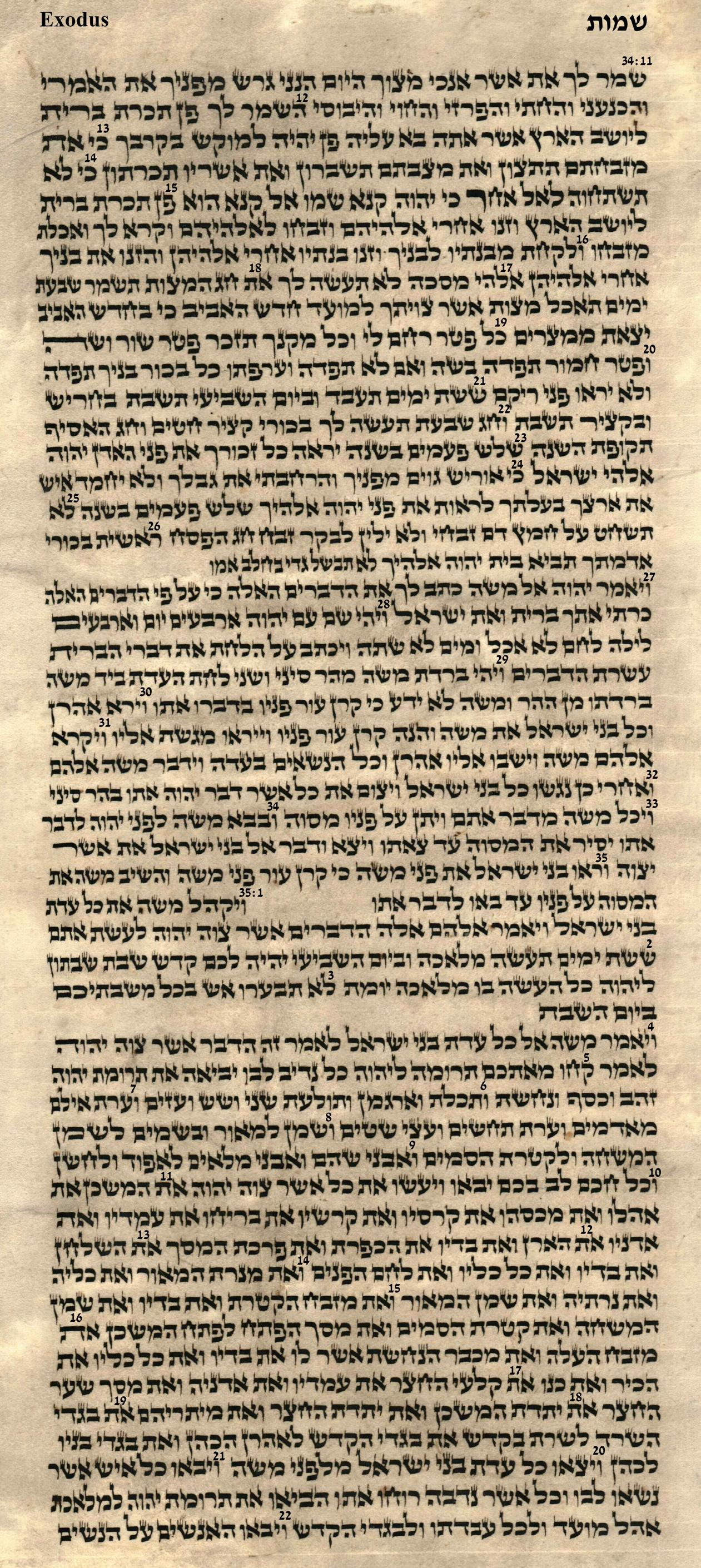 Exodus 34.11 -35.22