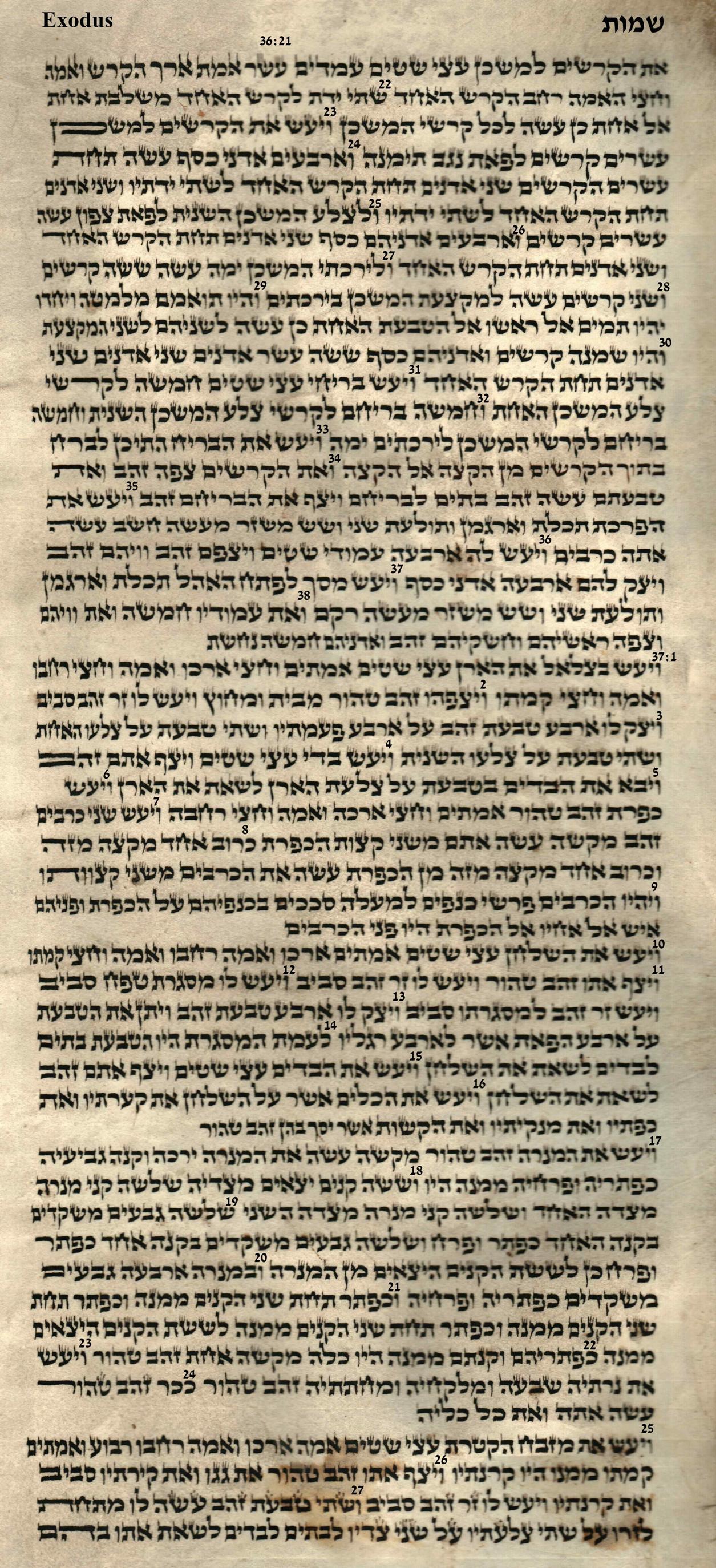 Exodus 36.21 - 37.27