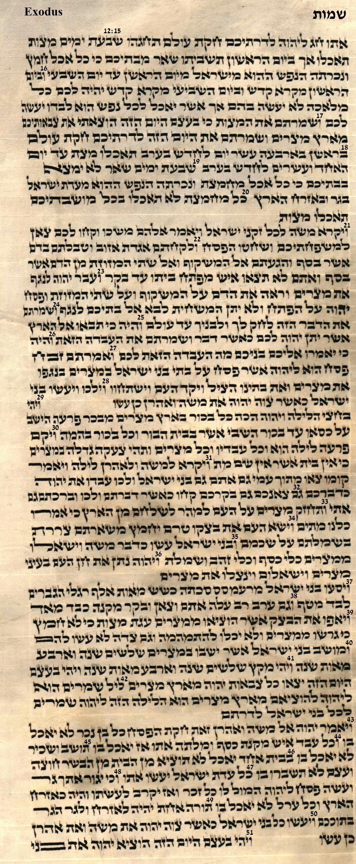 Exodus 12.15 - 12.51