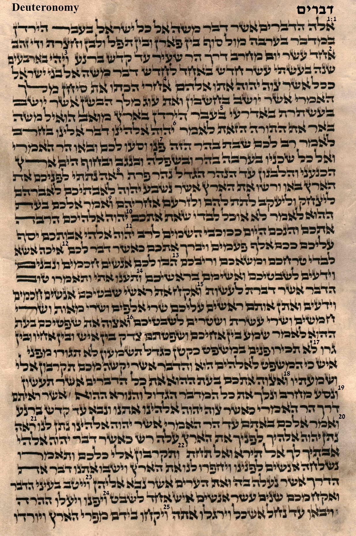 Deuteronomy 1.1 - 1.25