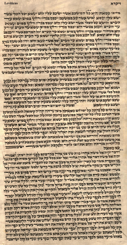 Leviticus 15.4 - 16.17