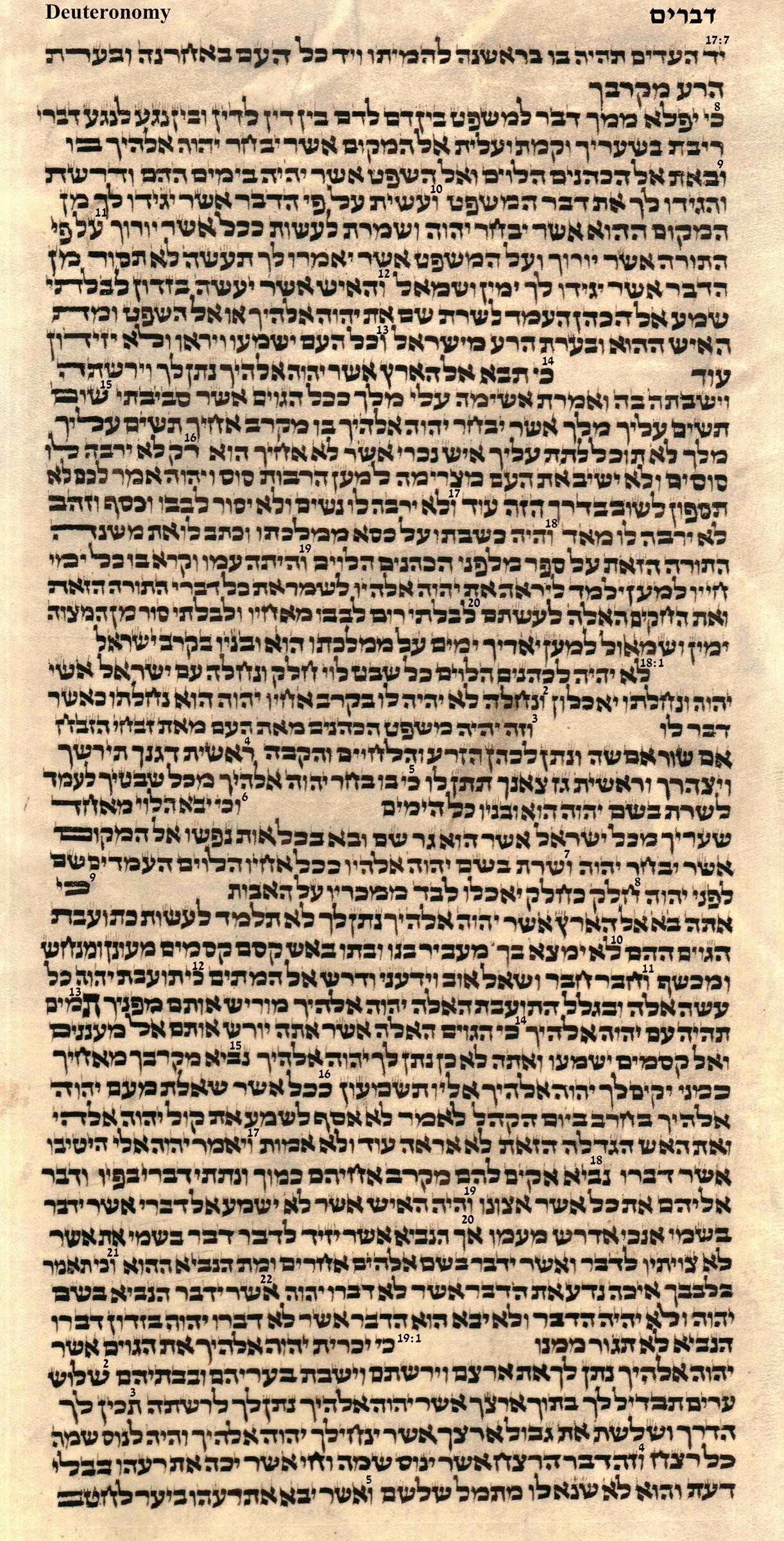 Deuteronomy 17.7 - 19.5
