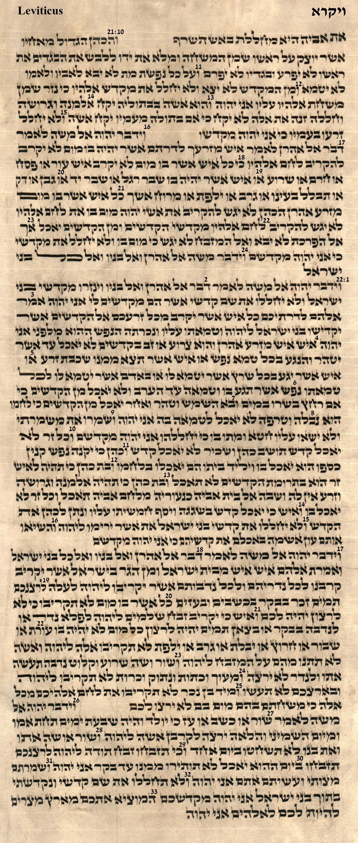 Leviticus 21.10 - 22.33