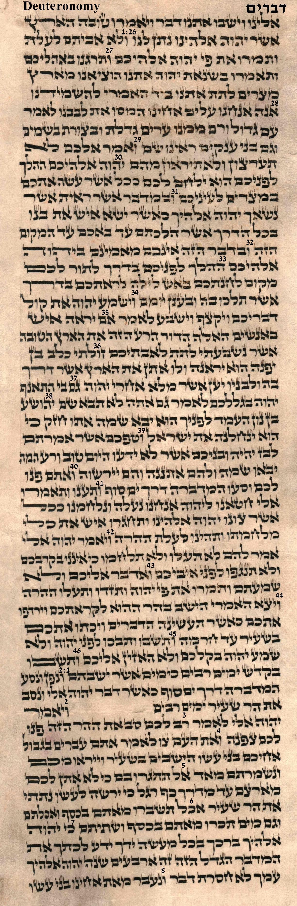 Deuteronomy 1.26 -2.8
