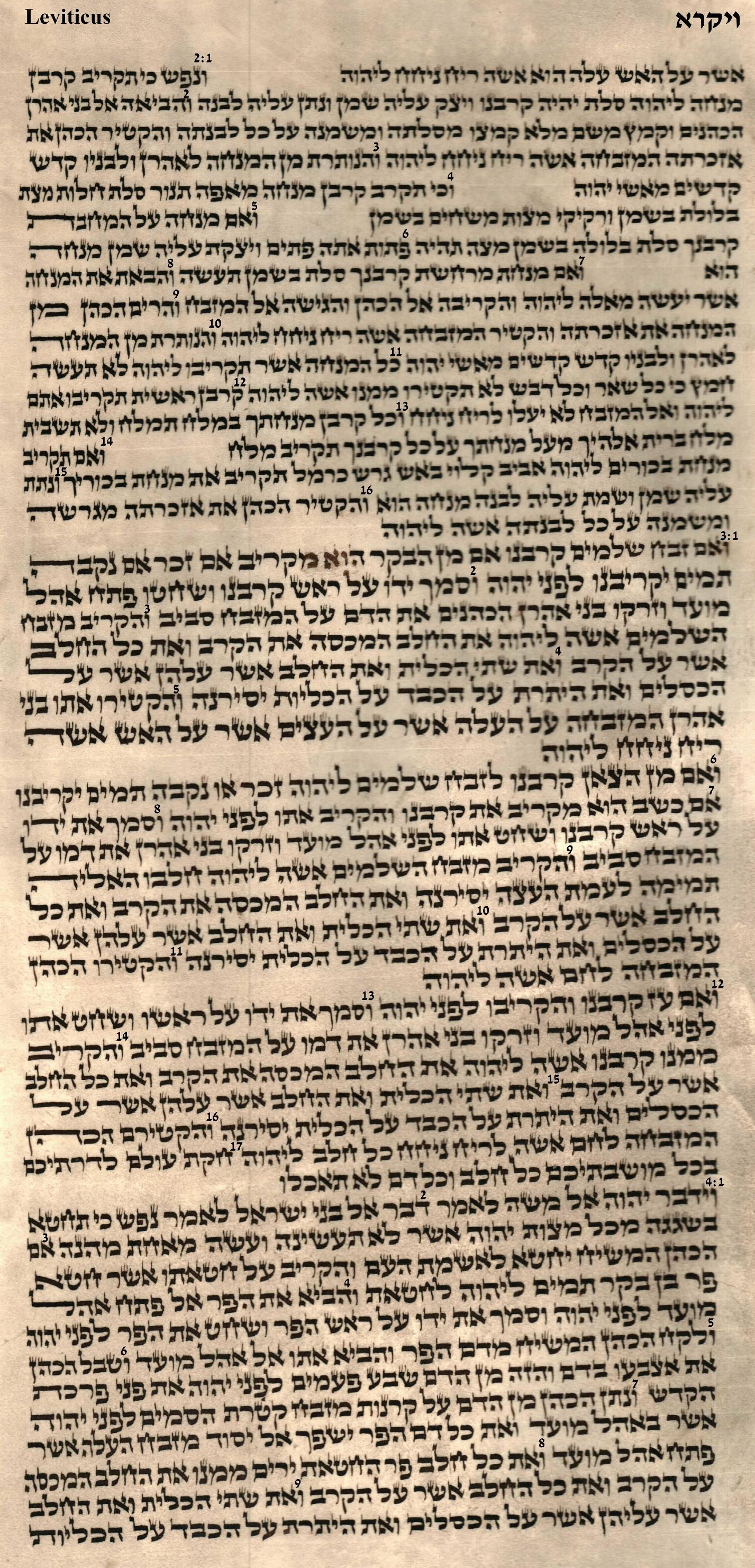 Leviticus 2.1 - 4.9