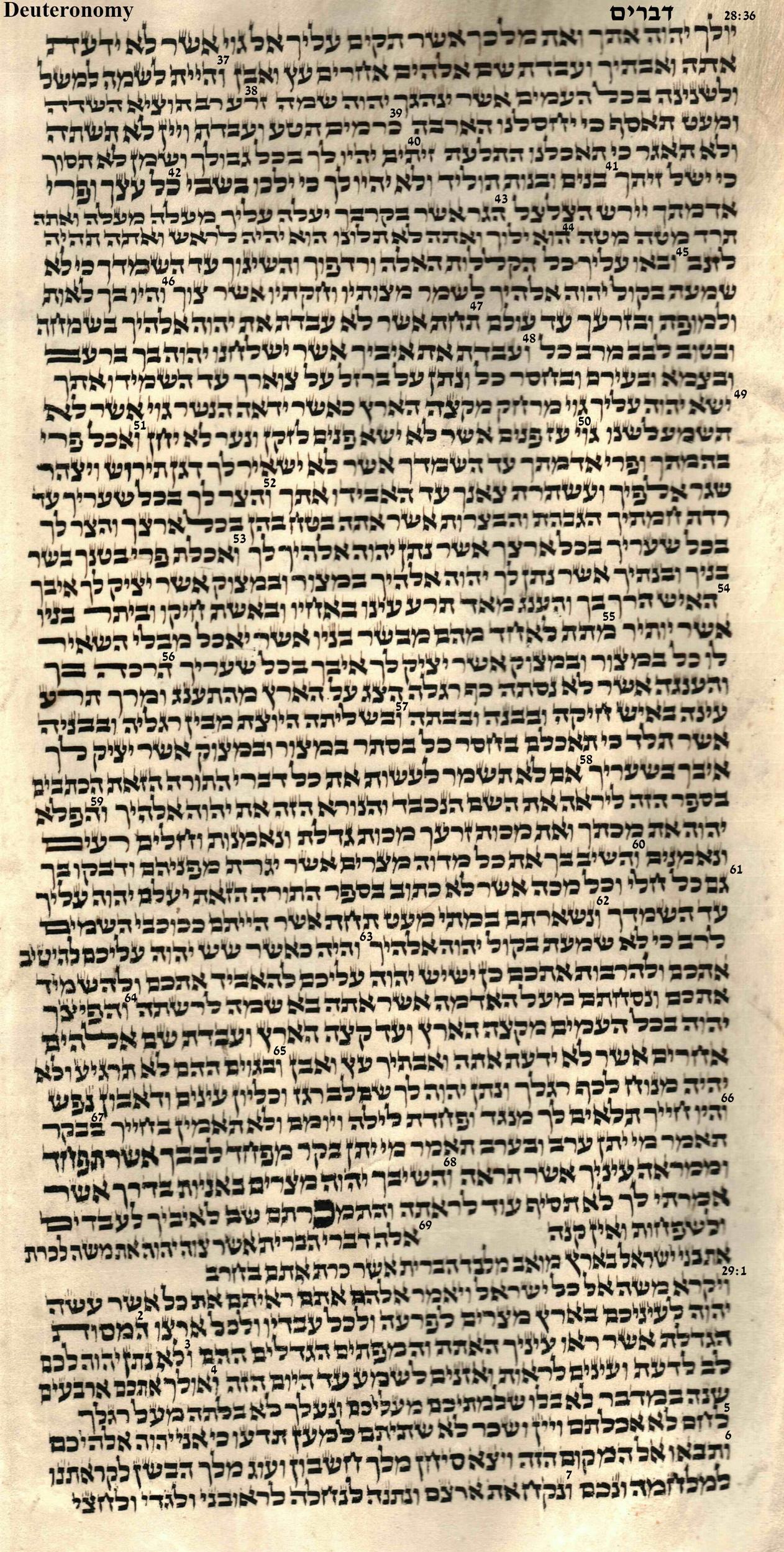 Deuteronomy 28.36 - 29.7