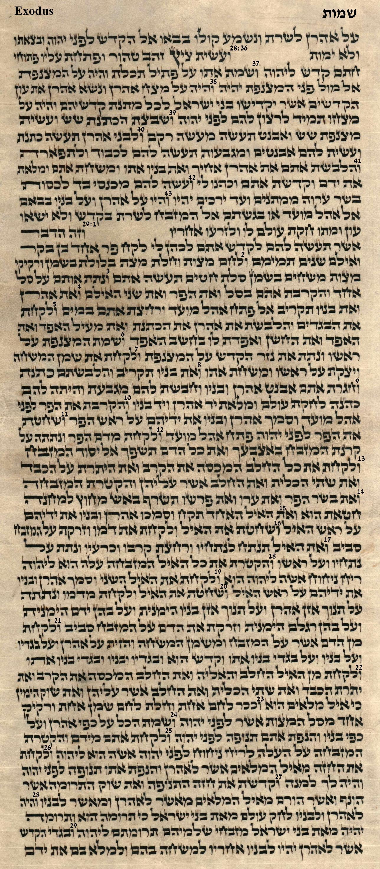 Exodus 28.36 - 29.29