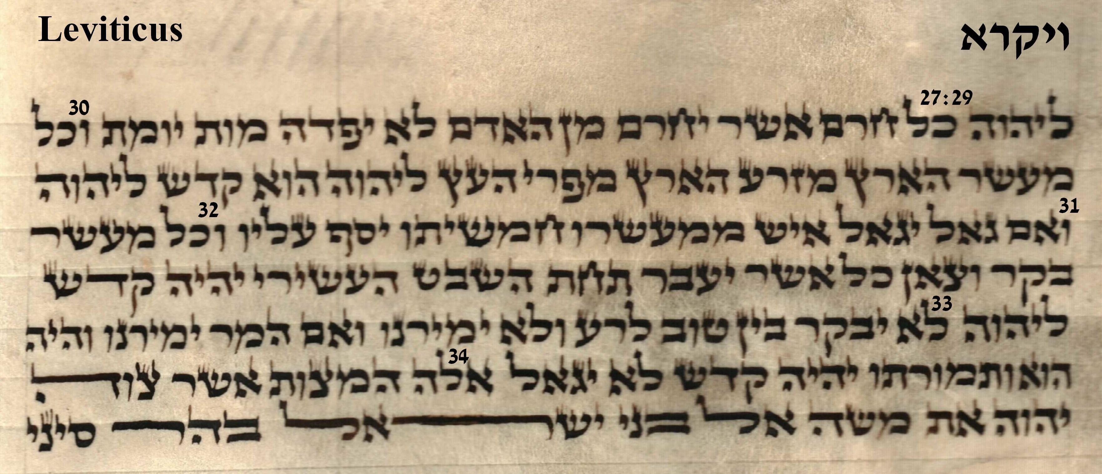 Leviticus 27.29 - 27.34