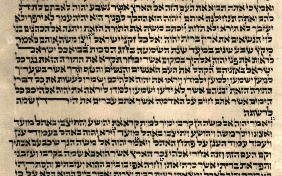 Deuteronomy 30.15 – 31.28