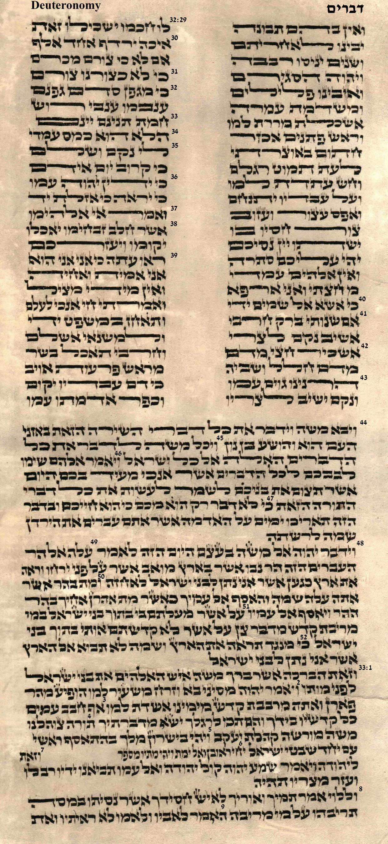 Deuteronomy 32.29 - 33.9