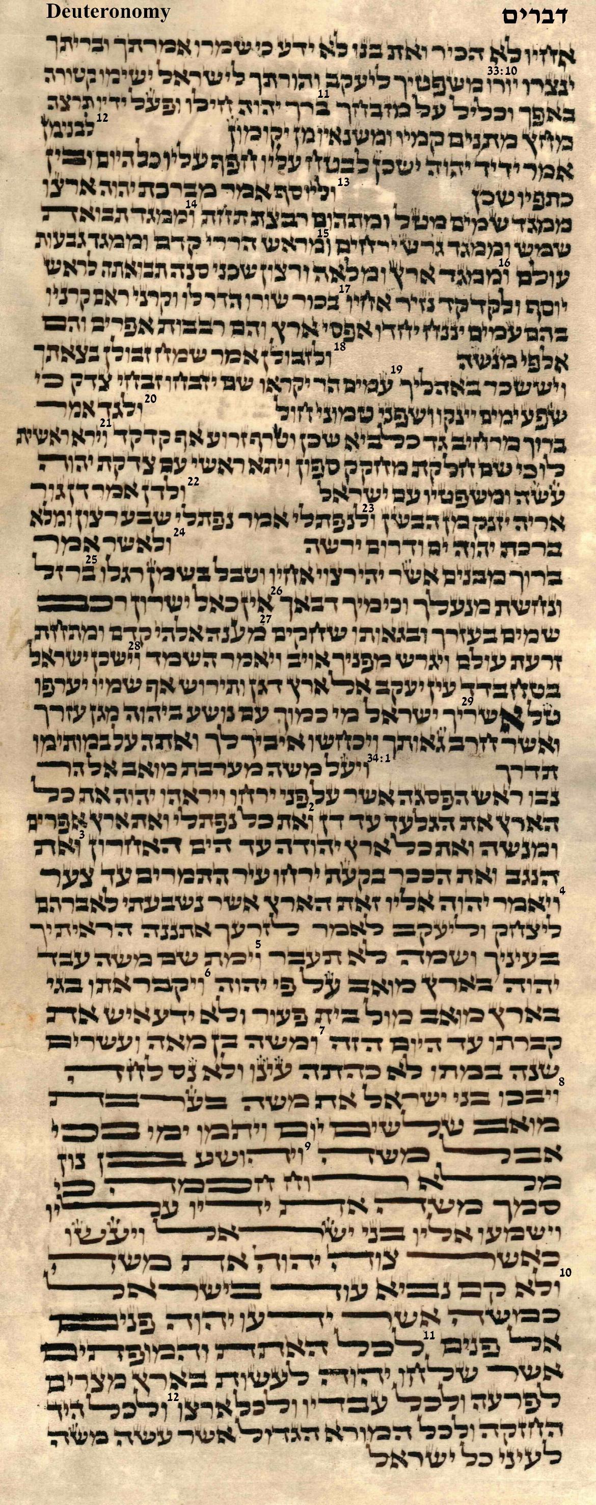 Deuteronomy 33.10 - 34.12