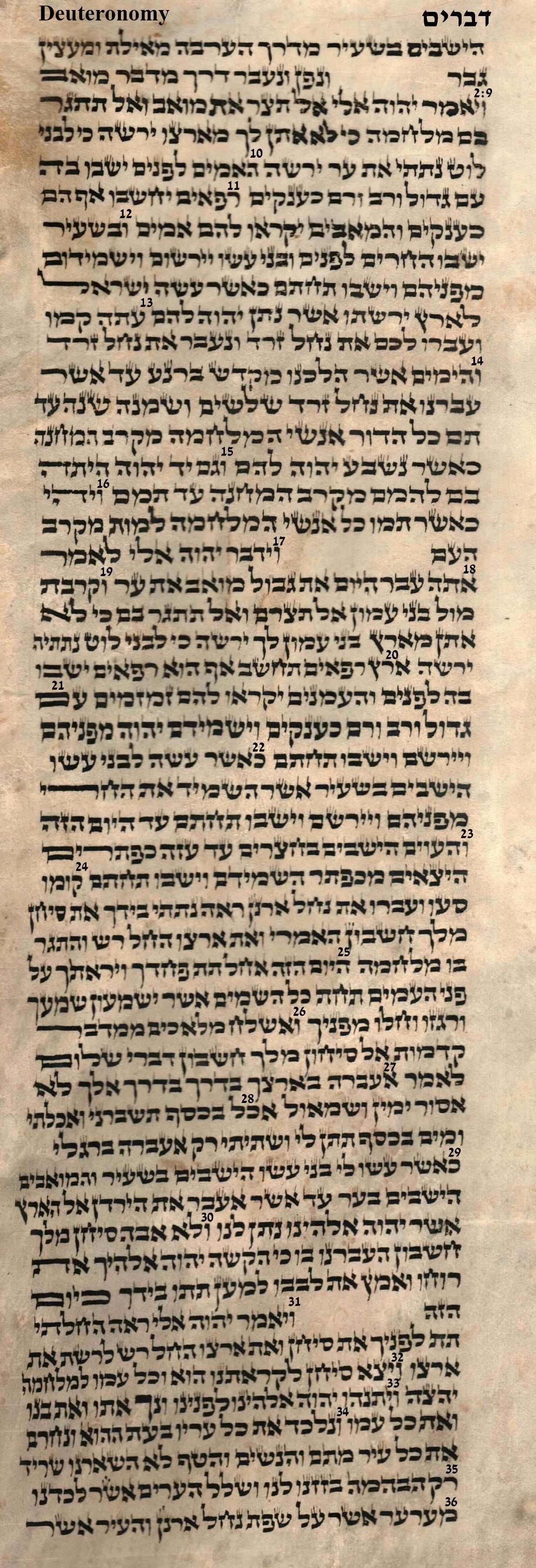 Deuteronomy 2.9 - 2.36