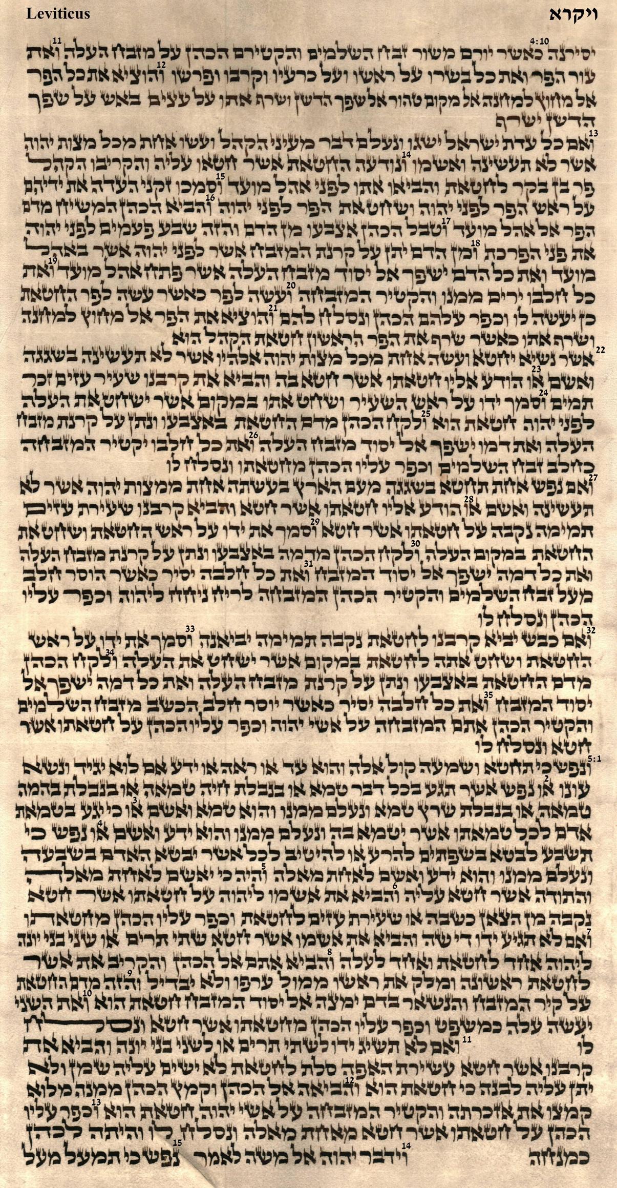 Leviticus 4.10 - 5.15
