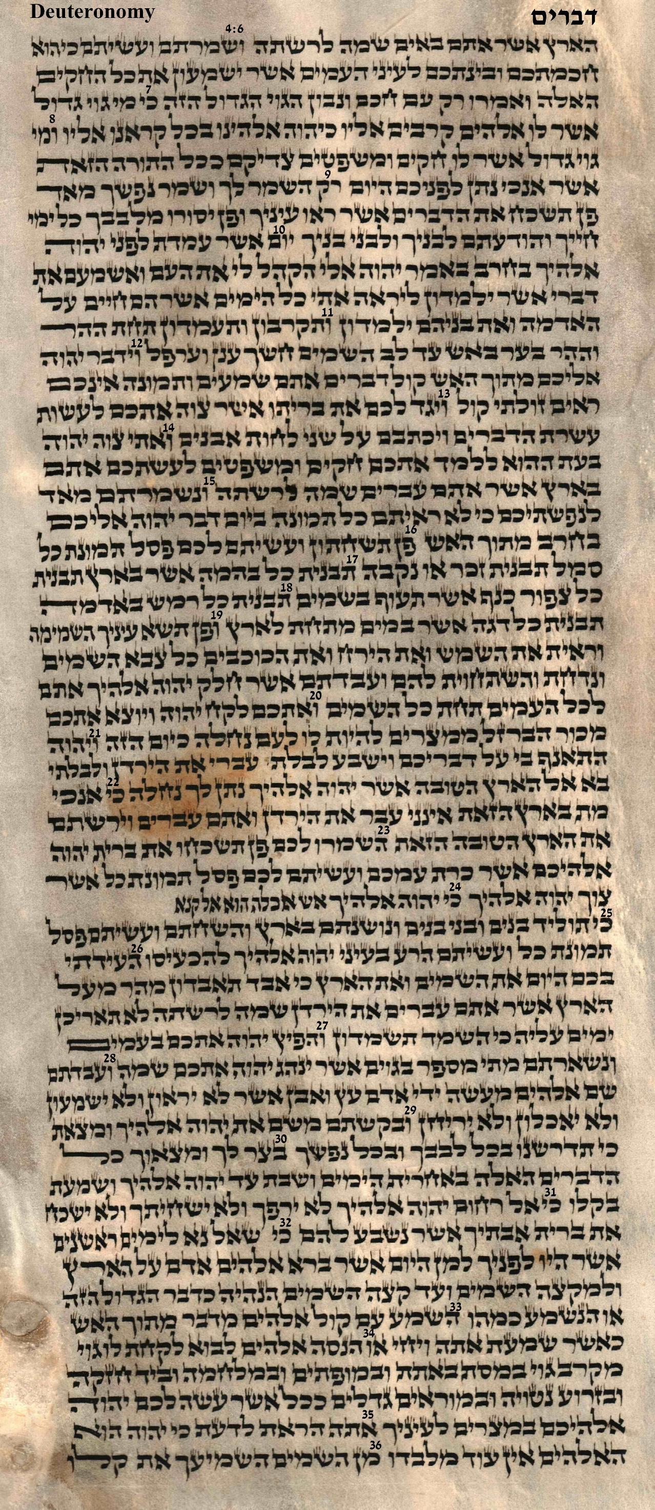 Deuteronomy 4.6 - 4.36