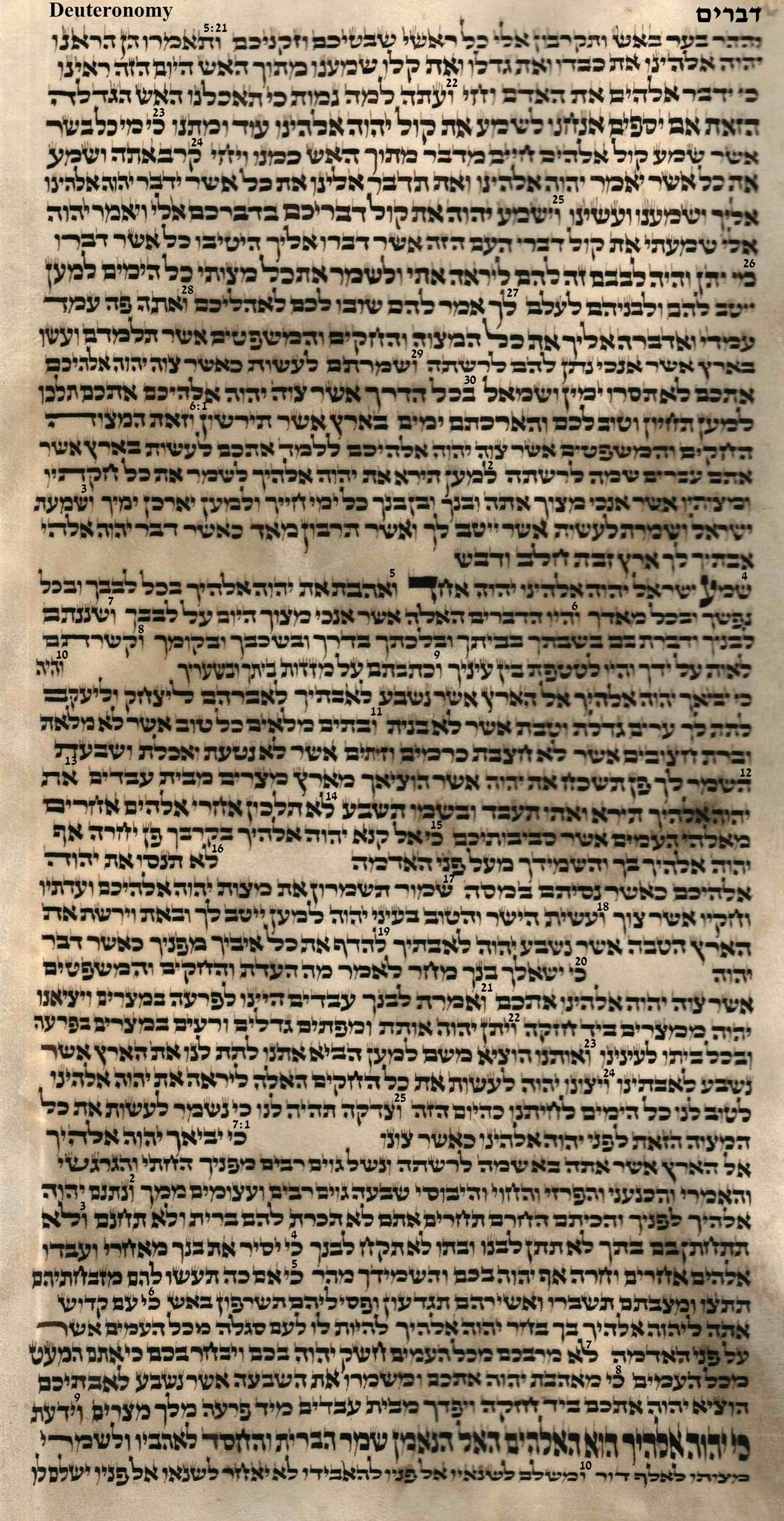 Deuteronomy 5.21 - 7.10
